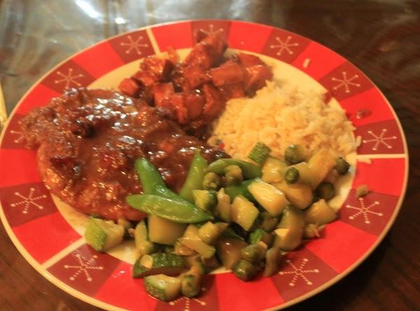 Serve with rice,sweet potatoes,veges.Enjoy.