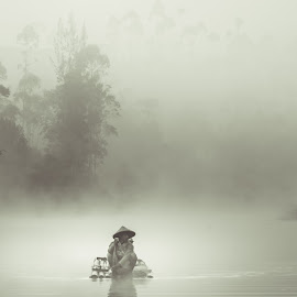 Going to work by Max Bowen - Landscapes Weather