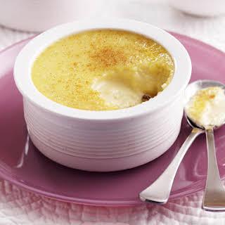 White Chocolate and Vanilla Rice Pudding.