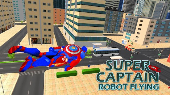 Superhero Captain Robot Games Black Hole Rope Hero Screenshot