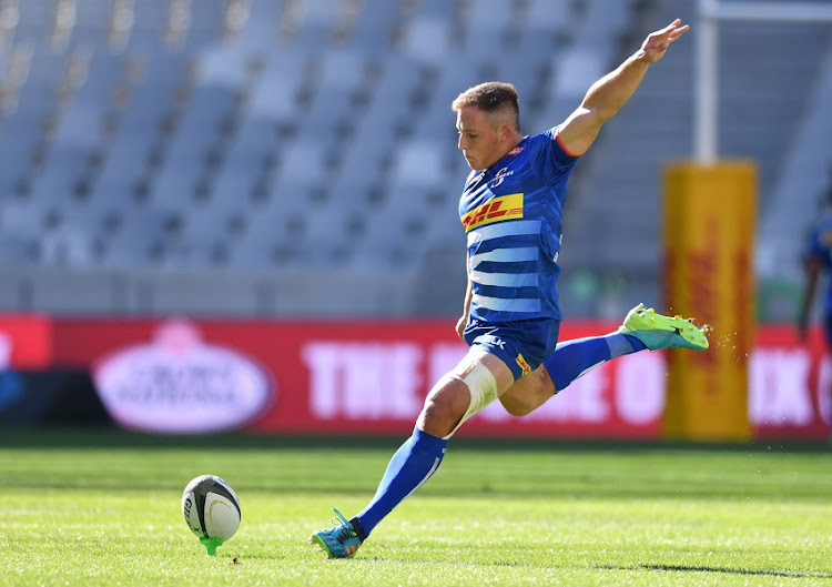 Kade Wolhuter of the Stormers during the PRO14 Rainbow Cup SA match between DHL Stormers and Cell C Sharks at Cape Town Stadium on May 01, 2021 in Cape Town, South Africa.