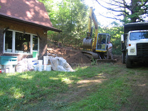 Photo: Getting started moving dirt next to my studio.