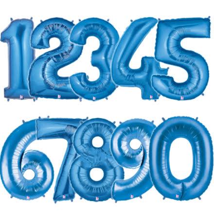 Ballongsiffra - Blå