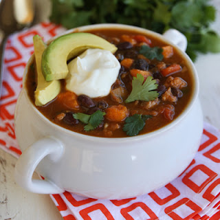 Black Bean and Sweet Potato Turkey Chili