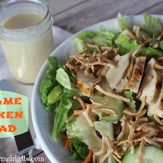 Sesame Chicken Salad with Honey Sesame Dressing