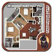 3D Modular Home Floor Plan