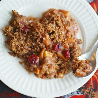 Autumn Apple, Pear and Cranberry Crumble