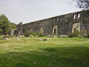 Photo: Andriake, facade of Hadrina's Granary .......... Voorgevel van de Graanopslagruimte van Hadrianus.