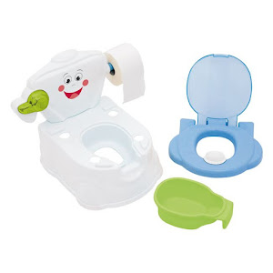 Olita tip WC cu reductor, multicolora, cu capac si manere