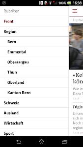 Berner Zeitung screenshot 1