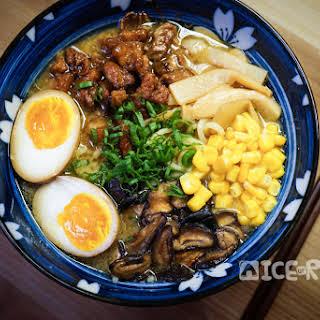 Instant Pot Pressure Cooker Miso Ramen Noodle Soup.