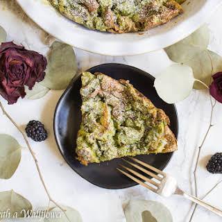 Matcha Green Tea Croissant French Toast Bake.