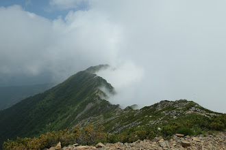 鳴沢岳方面