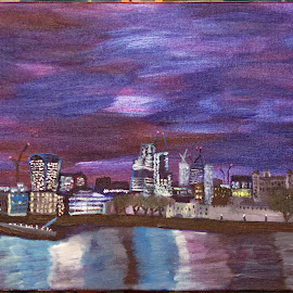 london 2 by Paul Robin Andrews - Painting All Painting ( london, painting, acrylic )