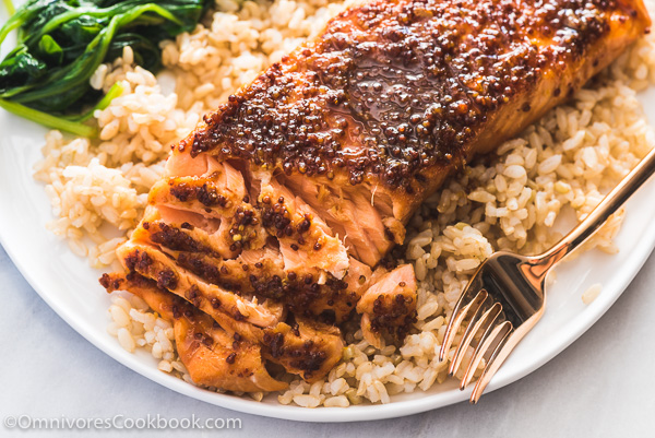 Honey Soy Sauce Glazed Salmon Recipe