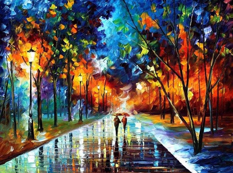 Por Amor al Arte: Notables cuadros al óleo utilizando sólo una espátula