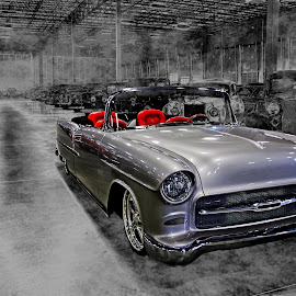 by JEFFREY LORBER - Transportation Automobiles ( car photos, bel air, chevrolet, lorberphoto, silver car, chevy, jeffrey lorber,  )