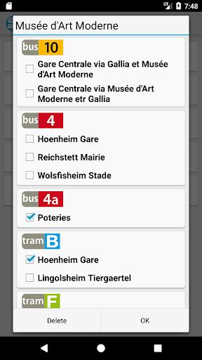 FastStras: capturas de pantalla de autobuses y tranvías 3