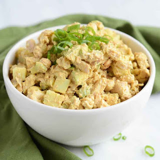 Healthy Curried Chicken Salad With Apples.