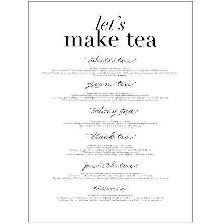 LET'S MAKE TEA