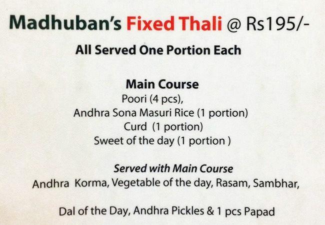 Madhuban- Sattvic South Indian Restaurant menu 4