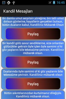 Kandil Mesajları Paylaş - screenshot