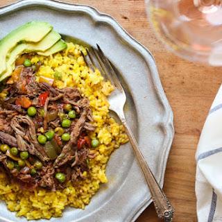 Ropa Vieja Cubana with Saffron Rice