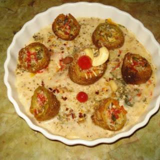 Baked Paneer dumplings in shahi baked Gravy
