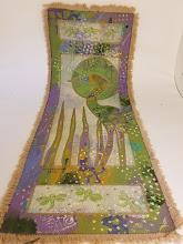 Photo: Acrylic Flower Textile by artist Mary Gibbs