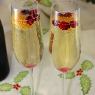 Cranberry, Clementine, and Prosecco Cocktails