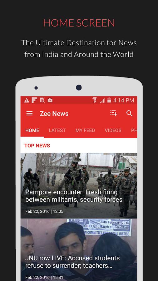 Zee News : Live News Updates- screenshot