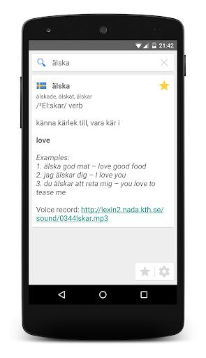 Lexin (Swedish Dictionary) screenshot 2