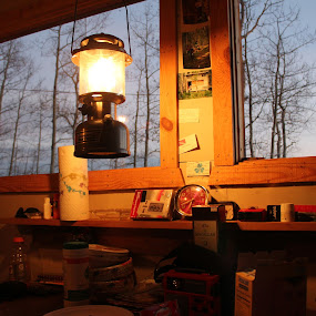 hunting camp by Nick Sweeney - Novices Only Objects & Still Life ( kerosene, lamp, warmth, fire )