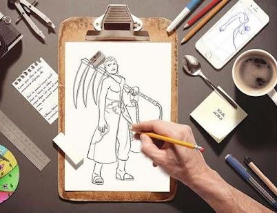 Jak nakreslit Shinobi Narotu - náhled