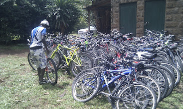 Photo: First shipment of BfW bikes to Wheels of Africa