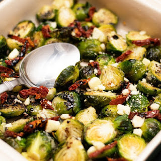 Roasted Brussel Sprouts with a Balsamic Glaze.