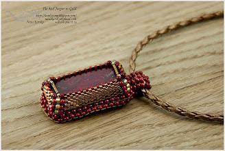 Photo: Amulet with Red Jasper in Gold - Амулет з червоною яшмою