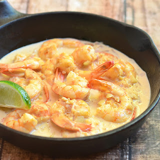 Creamy Vodka Lime Shrimps Recipe