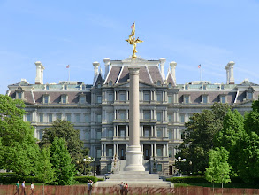 Photo: The Eisenhower Execute Office Building (EEOB) from outside the grounds