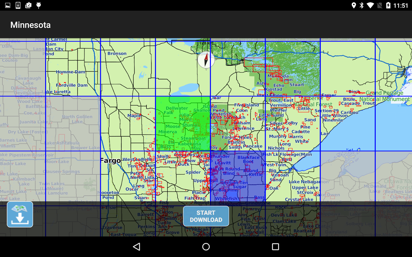 Aqua Map Minnesota Lakes GPS- screenshot