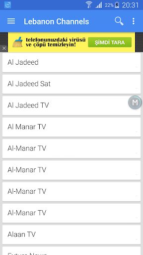 Lebanon TV Channels