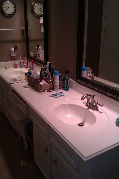 Photo: Spring is a time for cleaning and refreshing around the house. I knew my bathroom needed a little help, especially the area where we keep our toothbrushes and toothpaste!