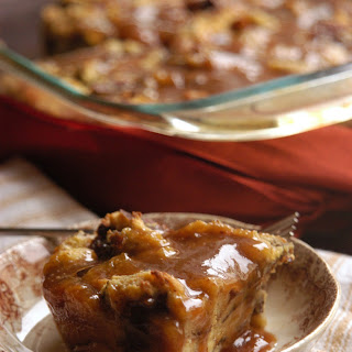 Caramel Bread Pudding for my Grandfather.