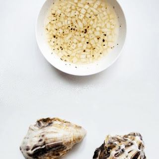 Raw Oysters with Asian Pear Mignonette