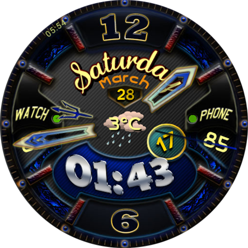 Darkle BlueSnake Watch Face LOGO-APP點子
