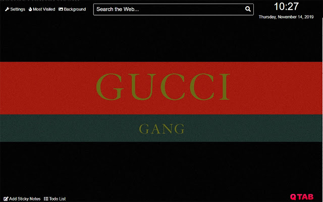 Gucci Wallpaper for New Tab