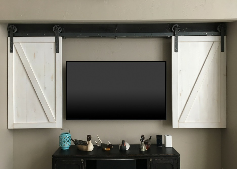 Orlando tv shutter barn door