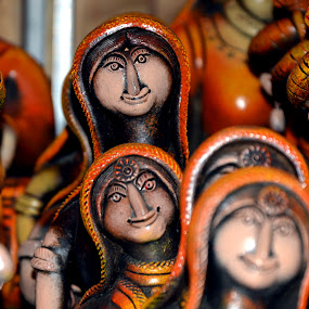 Clay Toys - Display... by Vinod Rajan - Artistic Objects Toys ( artistic objects, toys, objects, bokeh, artistic, object, toy, smile, clay,  )