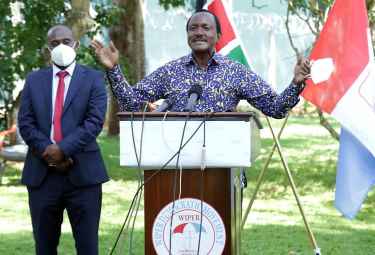 Wiper leader Kalonzo Musyoka.