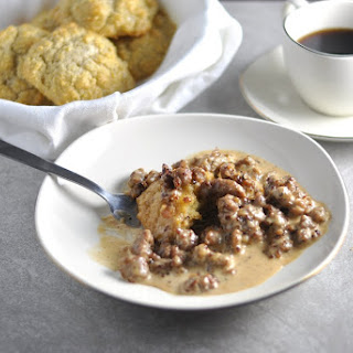 LOW CARB DROP BISCUITS AND GRAVY.